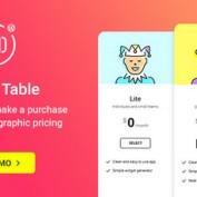 افزونه ساخت جداول قیمت گذاری Pricing Table