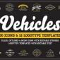 آیکون و لوگوی خودرو و وسایل نقلیه طراحی شده به صورت وکتور