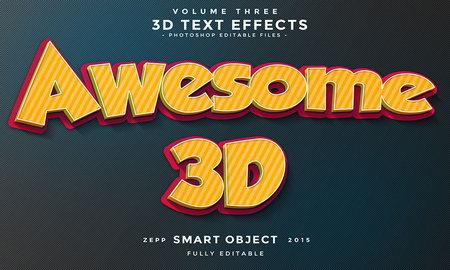 10 افکت متن 3D به صورت لایه باز