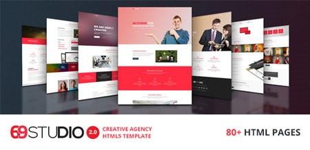 قالب شرکتی 69Studio به صورت HTML5