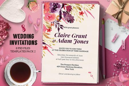 8 طرح لایه باز و قالب آماده کارت دعوت عروسی