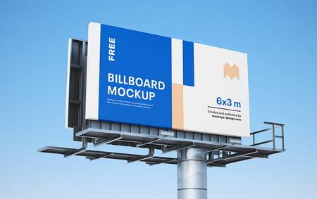 دانلود موکاپ بیلبورد تبلیغاتی به صورت لایه باز