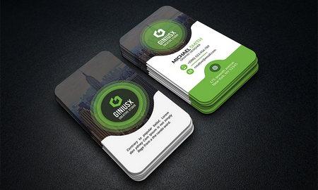 قالب آماده کارت ویزیت شرکتی برای فتوشاپ با فرمت PSD