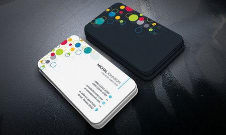 دانلود فایل لایه باز کارت ویزیت زیبا با طرح تیره و روشن