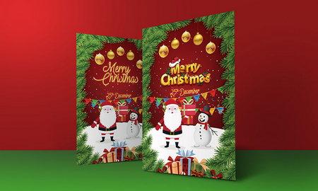 دانلود طرح لایه باز تراکت و پوستر کریسمس