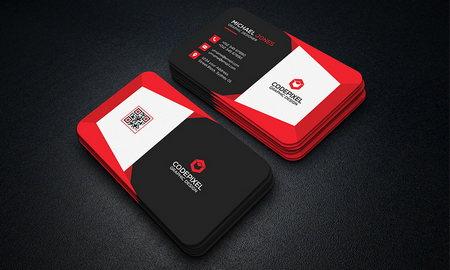 قالب لایه باز کارت ویزیت شرکتی با 3 رنگ متفاوت