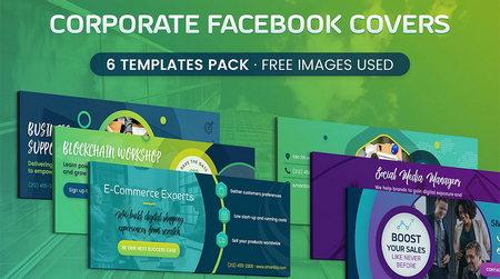 دانلود طرح لایه باز کاور شرکتی فیس بوک با فرمت PSD