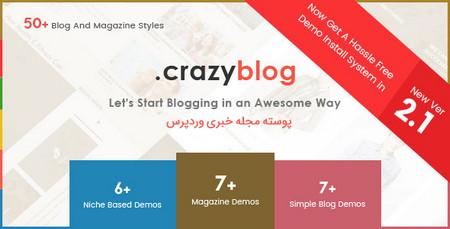 پوسته مجله خبری CrazyBlog برای وردپرس