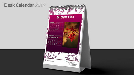 دانلود قالب تقویم رومیزی و دیواری 2019