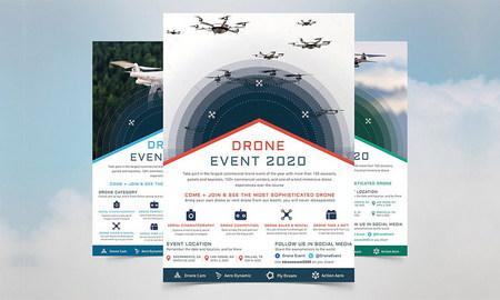 طرح لایه باز تراکت هلی شات و فیلمبرداری هوایی با فرمت EPS , AI , PSD