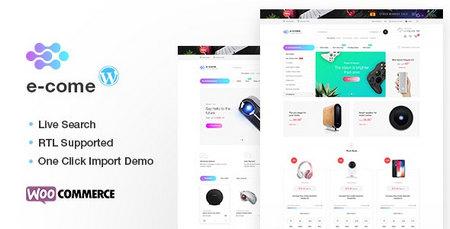 دانلود قالب Ecome   قالب فروشگاه الکترونیکی ایکام برای وردپرس