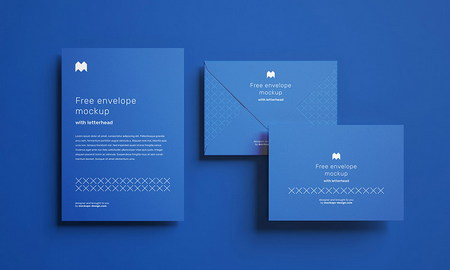 دانلود موکاپ پاکت نامه به صورت لایه باز و با فرمت PSD