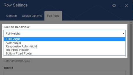 افزونه جانبی تمام صفحه FullPage برای صفحه ساز WPBakery