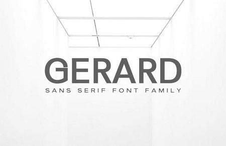 دانلود مجموعه فونت های Gerard Sans Serif + فونت وب ها