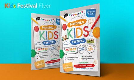 دانلود طرح لایه باز تراکت جشن و مسابقات ویژه کودکان