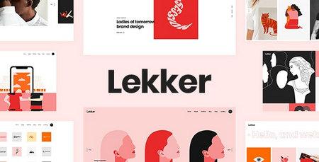 دانلود قالب Lekker   قالب نمونه کار برای وردپرس