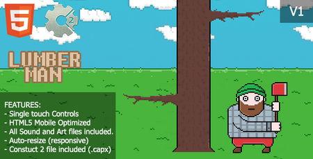 اسکریپت بازی آنلاین HTML مرد الوار فروش LumberMan