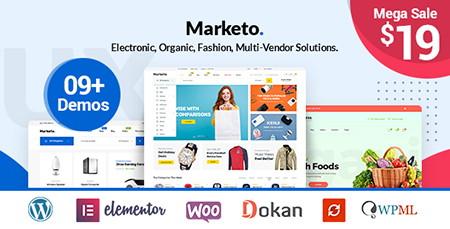 پوسته فروشگاهی و چندفروشندگی Marketo برای ووکامرس