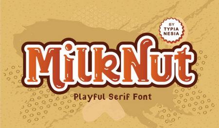 دانلود رایگان فونت Milk Nut   فونت پرمیوم ویژه طراحی