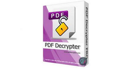 دانلود PDF Decrypter Pro   نرم افزار حذف پسورد فایل PDF