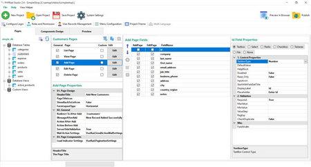 دانلود نرم افزار برنامه نویسی PHPRad Vue v2.6.9 / PHPRad Classic v2.6.4