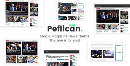 پوسته مجله خبری Peflican برای وردپرس
