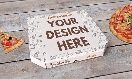 قالب لایه باز جعبه پیتزا با فرمت PSD قابل استفاده در فتوشاپ