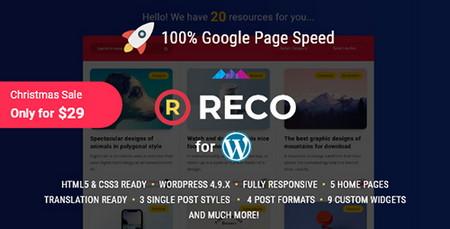 پوسته وبلاگی و مجله ای Reco برای وردپرس