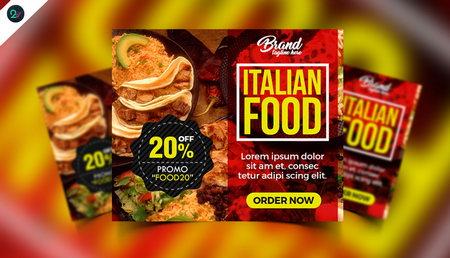 دانلود بنر تبلیغاتی رستوران در تمامی سایز ها به صورت PSD