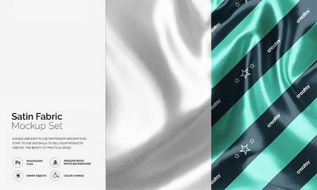 موکاپ پارچه ساتن براق لایه باز قابل استفاده در فتوشاپ