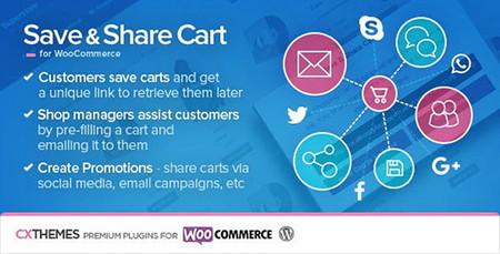 افزونه ذخیره و انتشار سبد خرید ووکامرس Save & Share Cart