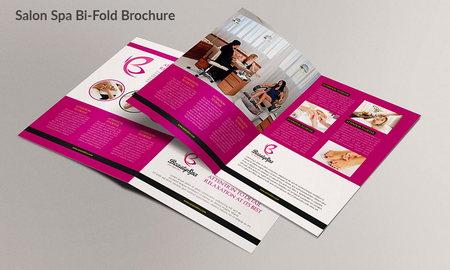 طرح لایه باز بروشور سالن اسپا ، زیبایی و مراقبت از پوست با فرمت PSD