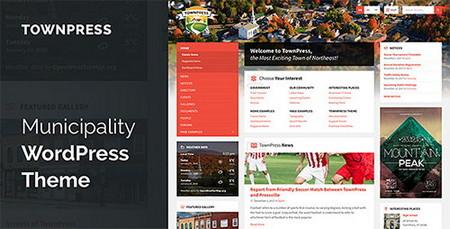 پوسته شهرداری و سازمان ها TownPress برای وردپرس
