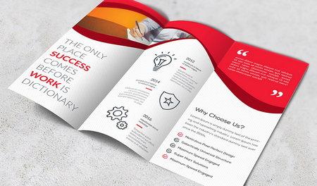 دانلود فایل لایه باز بروشور سه لت شرکتی با رنگبندی متنوع