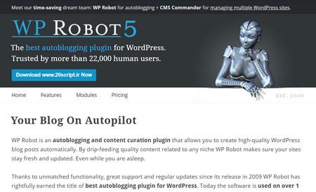 افزونه ربات ارسال اتوماتیک مطالب در وردپرس WP Robot