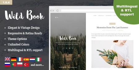پوسته وبلاگی و نمونه کارها Wild Book برای وردپرس