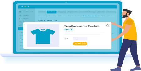 افزونه ووکامرس سفارشی سازی خرید محصولات WooCommerce Default Quantity