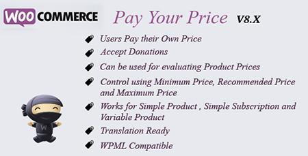 افزونه پرداخت قیمت شما برای ووکامرس WooCommerce Pay Your Price