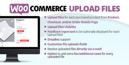افزونه آپلود فایل در ووکامرس WooCommerce Upload Files