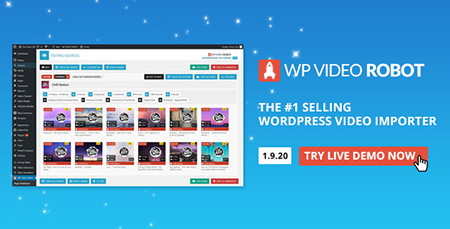 افزونه وارد کردن ویدئو در وردپرس WordPress Video Robot