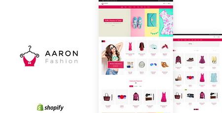 قالب فروشگاهی مد و زیبایی Aaron برای Shopify