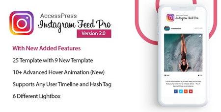 افزونه نمایش فیدهای اینستاگرام در وردپرس AccessPress Instagram Feed Pro