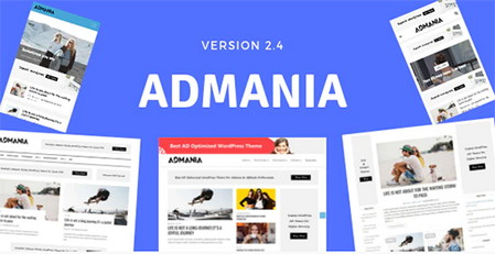 پوسته وبلاگی و مجله خبری Admania برای وردپرس