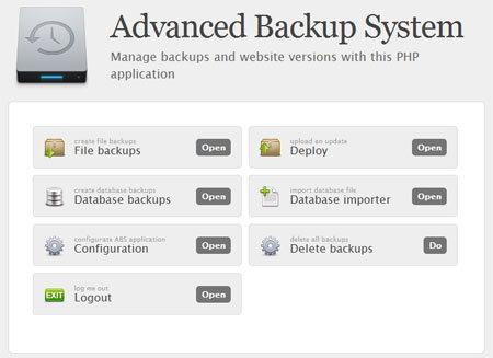 اسکریپت مدیریت نسخه پشتیبان Advanced Backup System