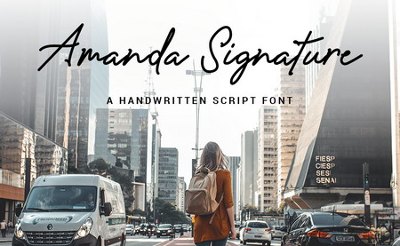 دانلود فونت دست نوشته Amanda Signature font