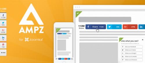 افزونه اشتراک گذاری مطالب جوملا در شبکه های اجتماعی AMPZ