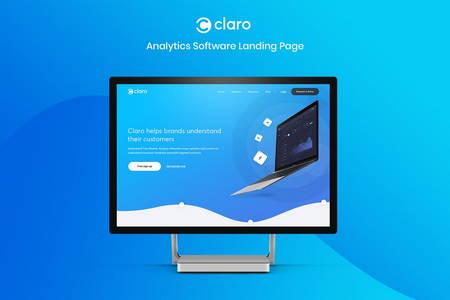 دانلود قالب PSD لایه باز سایت شرکتی Claro