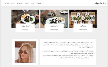 قالب وبلاگی وردپرس Anariel فارسی