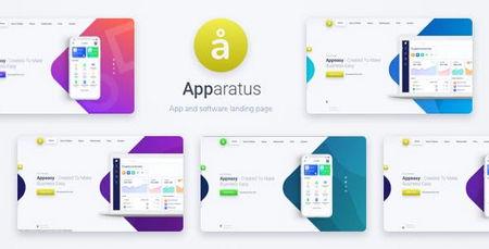 دانلود قالب برای معرفی اپلیکیشن Apparatus برای وردپرس