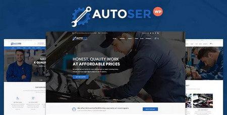 پوسته چند منظوره تعمیرات و خدمات Autoser برای وردپرس